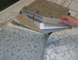 Image of drawings and samples