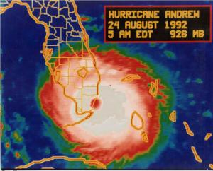 Hurricane Map, Florida