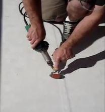 Cap (heat) welding Duradek Ultra Tiledek