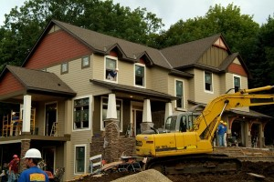 Finishing the exterior of the Extreme Makeover Home Edition: The Swenson Lee Family Home
