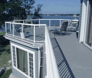 Roof Deck Protected by Duradek Vinyl Membrane