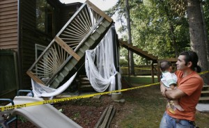 a deck collapse
