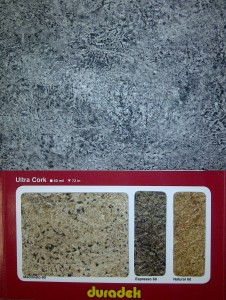 Duradek Vinyl colour swatch for new grey shade of Duradek Ultra Cork vinyl