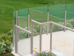 Durarail Panorama Post Topless Glass Railing System
