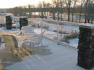A Duradek deck in the winter.