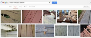 Screen Shot - Google Search: Composite Decking Problems