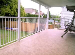 Rebuilt deck protected with Duradek vinyl membrane