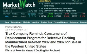 Screen Shot of the Wall Street Journal's Marketwatch.com