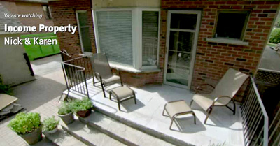 Flagstone porch waterproofed by Duradek as seen on Income Property