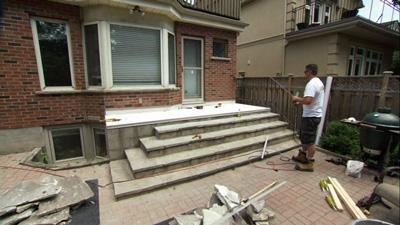Tiledek installed, ready for paver stones