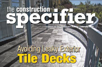 Tiledek featured in Construction Specifier
