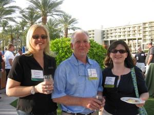 Duradek U.S. Manager Susan Smith (left) Duradek MidAtlantic John Harlow (Center) and Jaime Kotanko (right) at the Duradek Convention in 2010