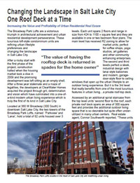 Cover of Broadway Park Lofts Article by Duradek