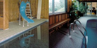 Indoor pool areas may require the added benefit of  Duradek's waterproofing performance.