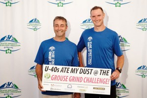 Winston (left) and Dave (right) did Duradek proud at the GVHBA Grouse Grind Challenge! Photo credit -  Martin Knowles Photo/Media