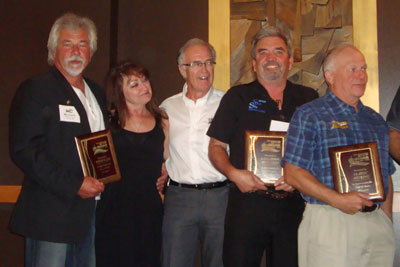 from left: Mel and Judy Dueck - Windek, Bob Ogilvie - Duradek, Rene Laberge - Saskatoon Deck Shop, Roger Galenza - Classic Decking