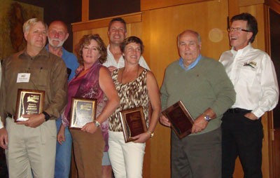 from left: Tony Weber - Okoboji Duradek, Bob Fouse and Leann Germanoski - Specialty Building Systems, Brian Nursey and Gail Penner - Victoria Deck Ltd., Ned Wood - The Duval Group, John Ogilvie - Duradek