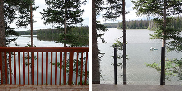 Railing Replacement Before and After from Duradek