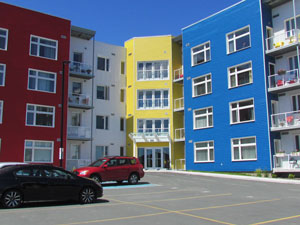 multi-family homes with Duradek protected balconies.