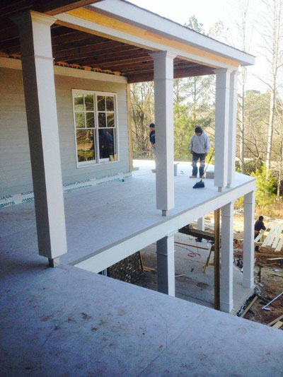 Newly built deck structure ready for Tiledek waterproof membrane.