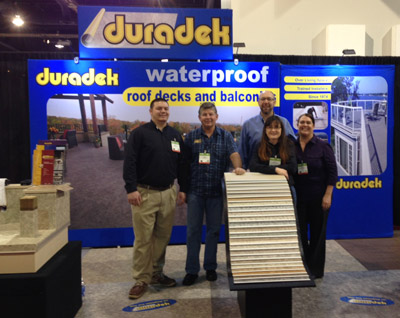 The Duradek team at IBS 2015.