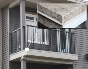 Spring deck maintenance includes checking a balcony perimeter flashing detail.