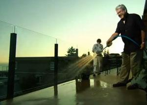 Washing Duradek vinyl deck