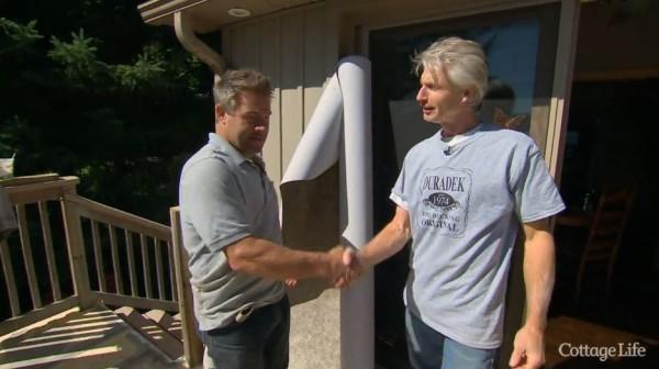 Jason Lake and Duradek Dealer John Kellett of Kellett Sales and Contracting