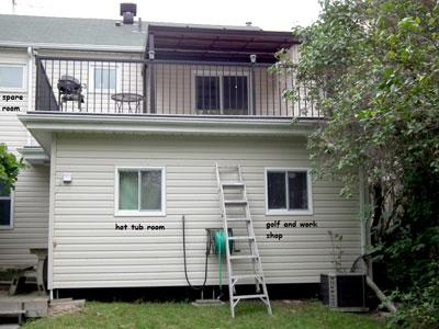 deck over living space waterproofed by Duradek