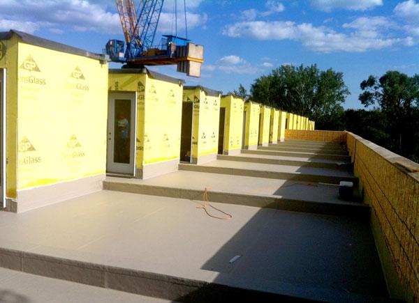 Commercial Flat Roof Deck by Triumph using Duradek vinyl.