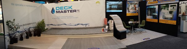Deck Master NZ booth at the Auckland Home Show 2015.