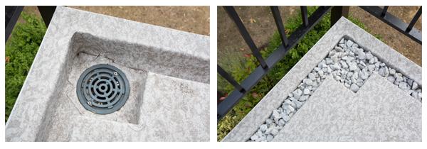 Duradek drainage detail
