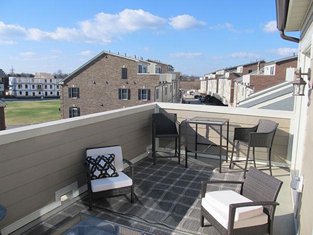 Enclosed roof deck by Duradek.