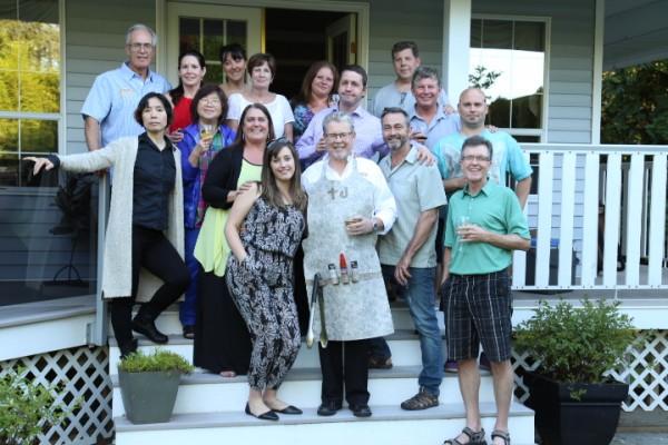The team at Duradek Canada gathered to celebrate Trevor Daniel's retirement.