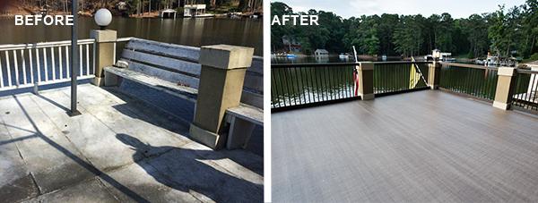 Boathouse roof deck renovation