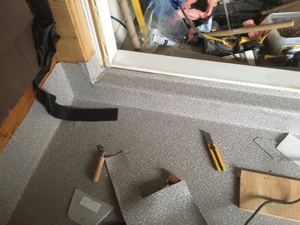 installation details of Durdek vinyl membrane.