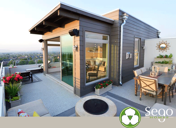 Sego Homes Roof Deck with Duradek