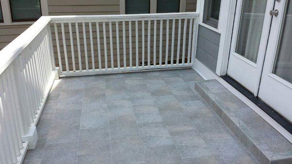 Tile Roof Deck waterproofed with Duradek Ultra Tiledek