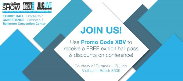 Invitation for free admission to Deck Expo 2016