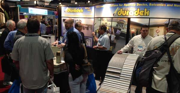 Duradek booth at the 2016 International Builders Show