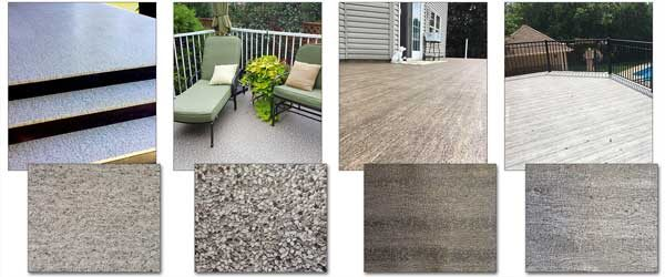The Duradek LEGACY Line Desert Quartz, Pebble Beach, Driftwood and Barnwood